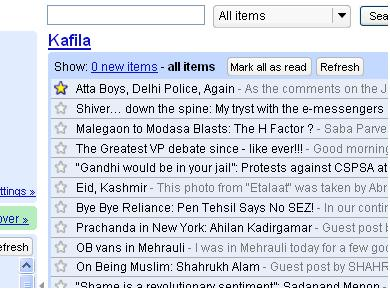 Kafila on Google Reader
