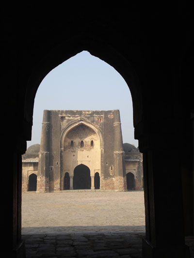 The east gate of the Begumpur mosque