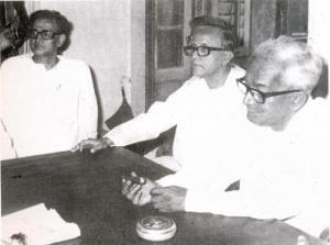Jyoti Basu, Promode Dasgupta and Saroj Mukherjee
