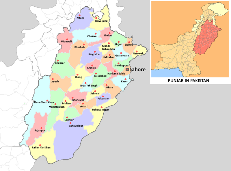 Punjab World Map.The North South Question In Punjab Umair Javed Kafila 12 Years