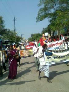 Adivasi Mahasabha rally in Raipur