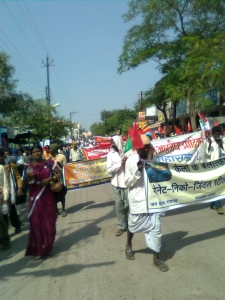 Adivasi Mahasabha rally in Raipur