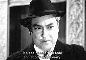 It's bad manners to read somebody else's diary.