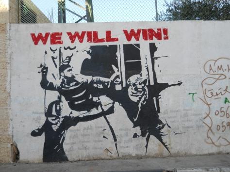 Liberation Graffitti on Wall in Ayda camp, Photos AN/NM