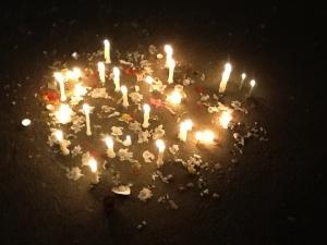 Candles at,Jantar Mantar