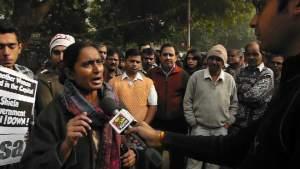 Kavita Krishnan, AIPWA speaking at Jantar Mantar