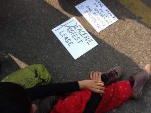 Signs at Condolence Meeting, Jantar Mantar