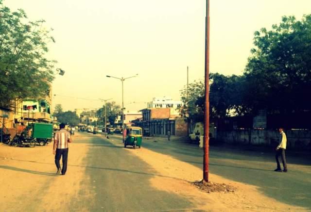 The Hindu-Muslim 'border' near Juhapura
