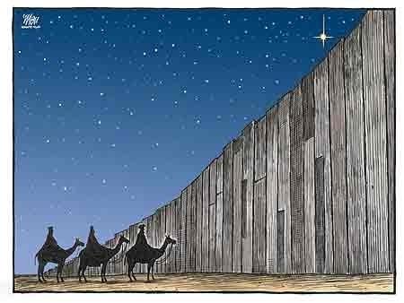 The 3 Wise Men blocked by Israels Apartheid Wall