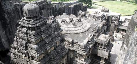 Kailasa Temple, reputed to be the zenith of rock-cut architecture, depicts Mount Kailash, the mythical abode of Lord Shiva.