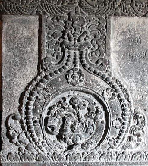 The exquisitely carved pillar in Cave 32, one of the four in the Jain group of caves