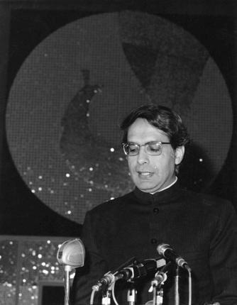 In this January 3, 1977 photo, V.C. Shukla, Union Minister of Information and Broadcasting inaugurates the sixth International Film Festival of India in New Delhi. The Justice Shah Commission of Inquiry which went into the Emergency execesses, had mentioned Shukla's name in its report. Photo: The Hindu Archives / TheHindu.com