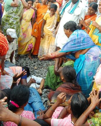 Ilavarasan found dead on railway tracks yesterday.Photo by N Bashkaran / The Hindu