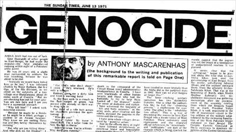 'Genocide' by Anthony Mascarenhas, The Sunday Times, London, June 13, 1971