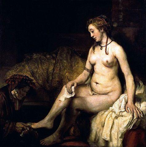 Bathsheba at her Bath - Rembrandt