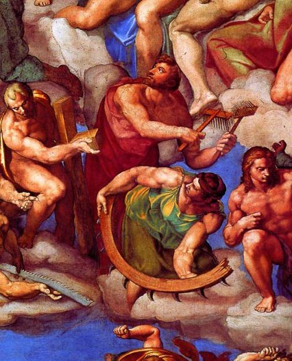 St. Blaise and St. Catharine - from The Last Judgment