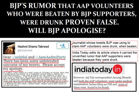 BJP's lie exposed