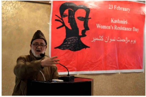 Former District Magistrate (Deputy Commissioner) S.M. Yasin addresses a gathering at Srinagar on the 23rd Anniversary of the events at Kunan Poshpora