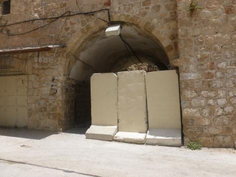 A Mini Wall Blocking A Gate to the Souk (Market/Bazaar)