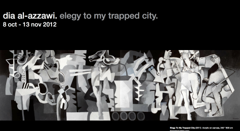 Elegy to My Tripped City - Large Format Painting Commemorating Sabra and Shatila by Dia El Azzawy, Collection of Tate Modern, London