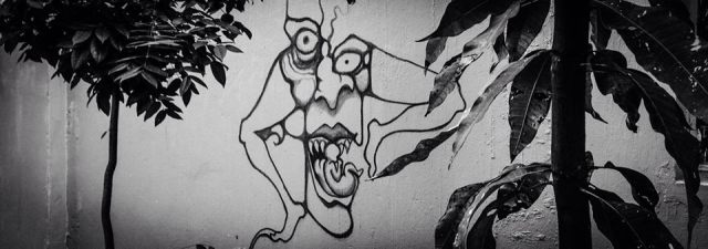Graffiti on Jadavpur University Walls. Photograph by Ronny Sen