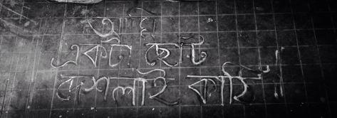 """I am a small match stick"" - Graffiti on Jadavpur University Walls. Photograph by Ronny Sen"