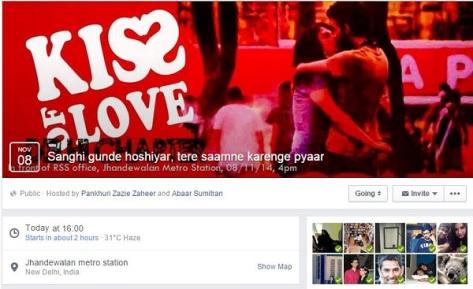 Kiss of love, Delhi