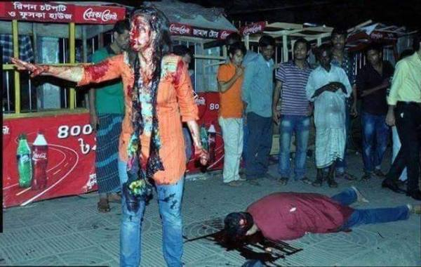 Killing of Avijit Roy, image courtesy Sudin Chattopadhyay