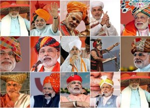 Modi Wears Different Hats