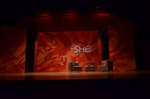 The stage is set for the play It's a She Thing