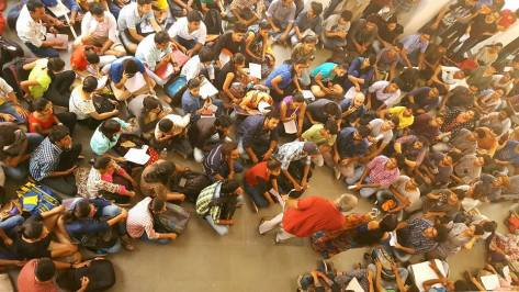 Gathering of Protesting Students of the Delhi College of Art