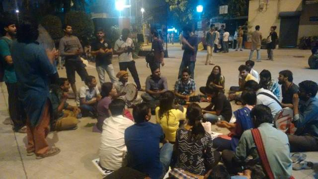 Protests Continue at the UGC HQ Through the Nights