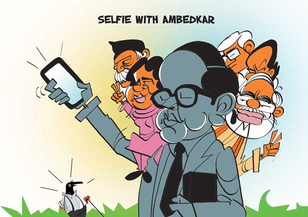 selfie with ambedkar