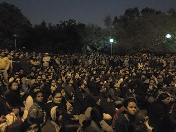 Public Meeting, JNU, 13th February