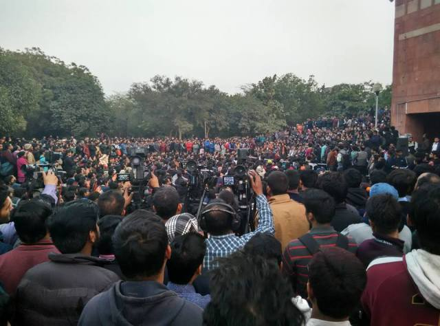 Protest meeting JNU