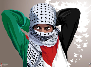 revolutionary woman intifada streetby Quadraro, image courtesy Deviant Art.