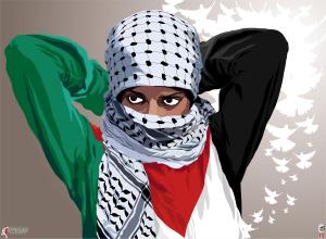 revolutionary woman intifada streetby Quadraro, image courtesy Deviant Art.