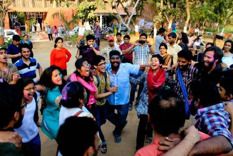 Celebrations at JNU began early, as soon as the news of Umar and Anirban's bail order became public