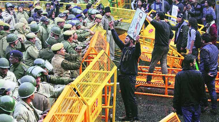 Ambedkar at the barricades, Express photo, courtesy Tashi Tobgyal
