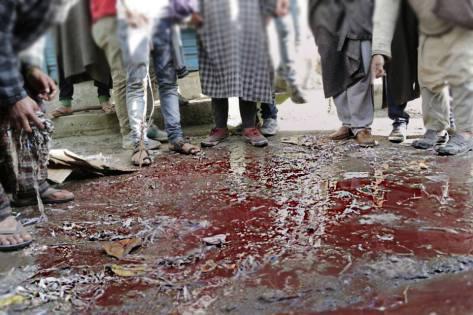 Blood on the streets of Handwara