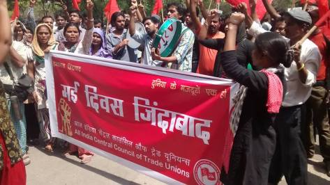 Workers and Students Unite in JNU on May 1, 2016, International Labour Day