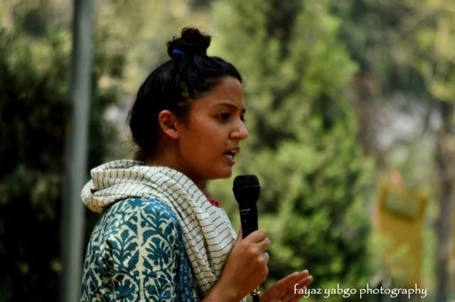 JNUSU Vice President, Shehla Rashid, Speaking at the Worker Student Rally on May Day