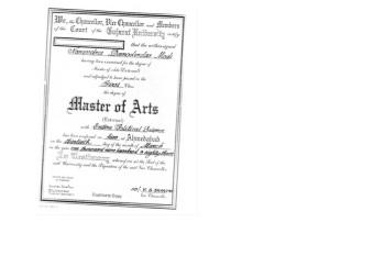 Modi's 'entire' degree, image courtesy www.dailyo.in