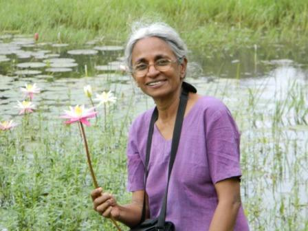 कविता कृष्णन की मां लक्ष्मी कृष्णन