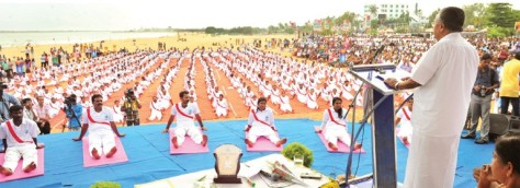 Pinarayi Vijayan at CPI-MK's Yoga event